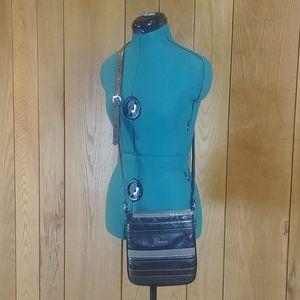 $DROP🔽Guess Black Gray Crocodile Crossbody Bag